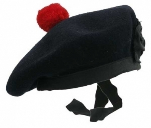 PLAIN-BLACK-BALMORAL-HAT-RED-POM