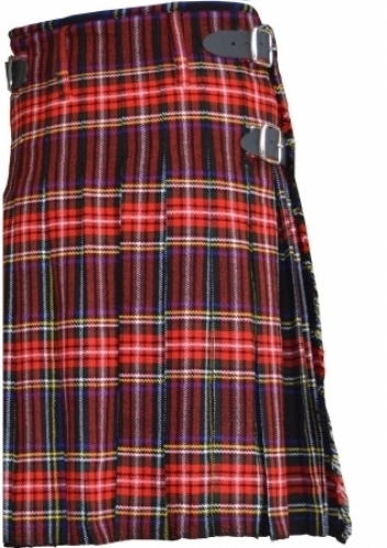 ACTIVE-LADIES-TRADITIONAL-BLACK-STEWART-TARTAN-KILT.