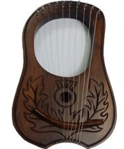 Lyre-Harp-Beautiful-Scottish-Thistle-Design-Fully-Hand-Craft-Work-Man-Ship.