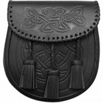 Black-Celtic-Sporran-Embossed-flap-and-body-