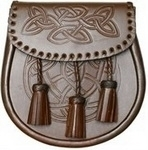 Brown-Celtic-Sporran-Embossed-flap-and-body