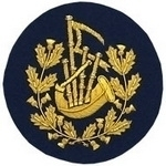 Pipe-Major-Badge-Gold-Bullion-on-Blue