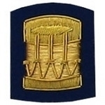 Drum-Badge-Gold-Bullion-on-Blue-Badges-