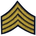 4-Stripe-Chevrons-Badge-Gold-Bullion-on-Blue