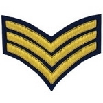 3-Stripe-Chevrons-Badge-Gold-Bullion-on-Blue