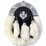 BLACK-AND-WHITE-RABBIT-FUR-CELTIC-CANTLE-WITH-MOUNTED-THISTLE-CHAIN