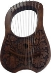 Lyre-Harp-Beautiful-Flowers/Thistle-Design-Fully-Hand-Craft-Work-Man-Ship.-