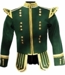 Dark-Green-Highland-Doublet-Gold-Piping-18-Buttons