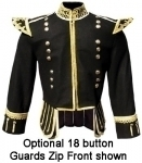Pipe-Band-Doublet-Black-Wool-White-piping-18-button-front-zip